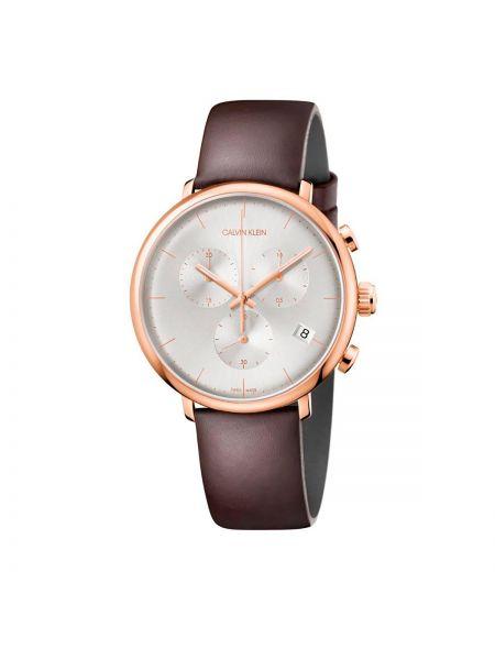 Złoty zegarek - brązowy Calvin Klein