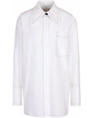 Блузка с карманами хлопковая Marni