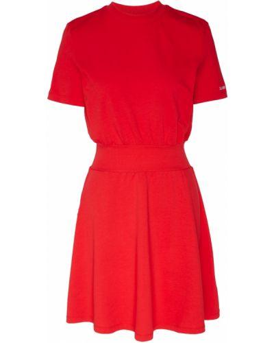 Платье мини с вырезом свободного кроя Calvin Klein