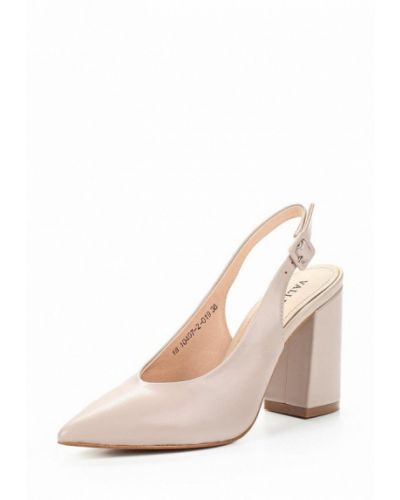 Розовые туфли с открытой пяткой Valley