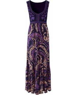 Летнее платье макси с вырезом Bonprix