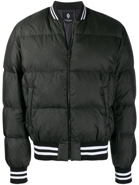 Długa kurtka pikowana czarna Marcelo Burlon County Of Milan