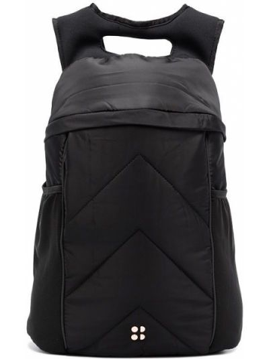 Czarny plecak z klamrą Sweaty Betty