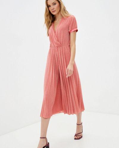 Розовое платье с запахом Silvian Heach
