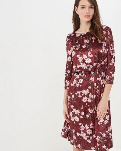 Вечернее платье бордовый красный Masha Mart