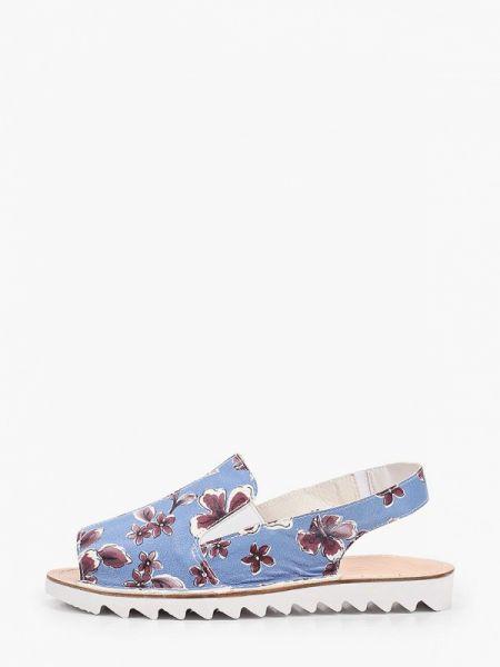Синие кожаные сандалии Makfly