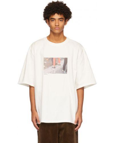 Хлопковая белая рубашка с коротким рукавом с воротником с короткими рукавами Camiel Fortgens