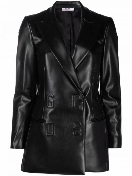 Черное пальто из вискозы Gcds