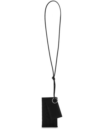 Czarny portfel skórzany Bottega Veneta