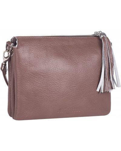 Маленькая сумка из натуральной кожи на молнии Franchesco Mariscotti
