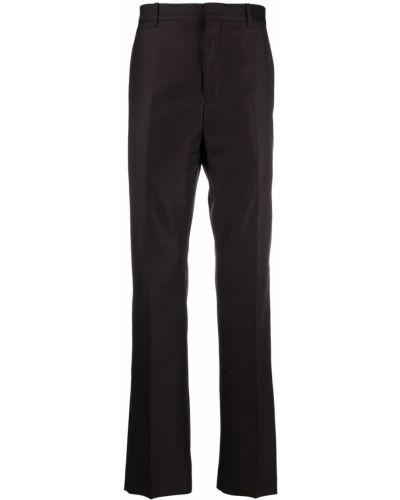Фиолетовые шерстяные брюки с карманами Acne Studios