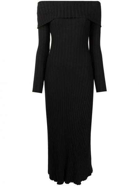 Sukienka midi bawełniana - czarna Simon Miller
