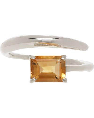 Pierścionek srebrny szmaragd Faris