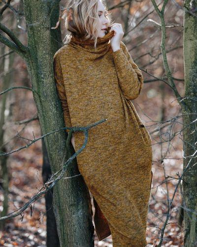 Платье с карманами - коричневое Key