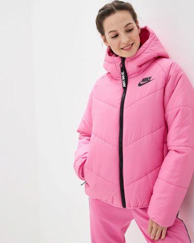 Утепленная куртка осенняя розовая Nike