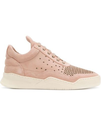Кожаные кроссовки - розовые Filling Pieces