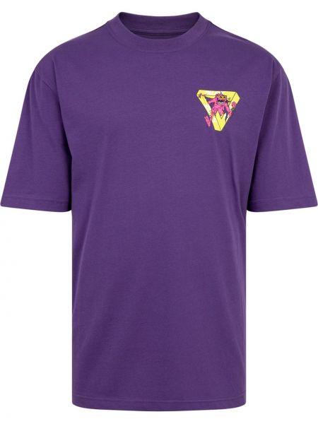 Fioletowa t-shirt z printem Palace