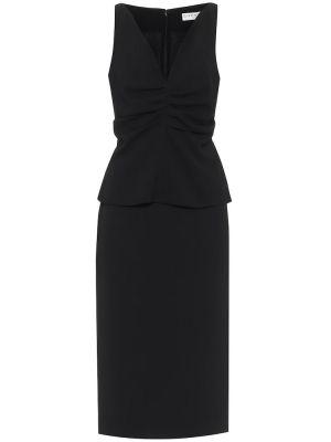 Шерстяное черное платье миди Givenchy
