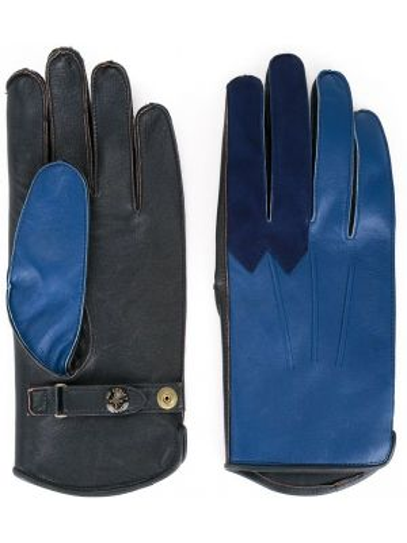 Czarne rękawiczki skorzane vintage Addict Clothes Japan