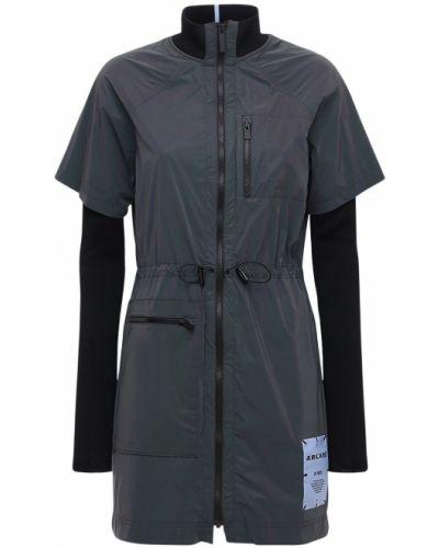 Платье с карманами - черное Mcq