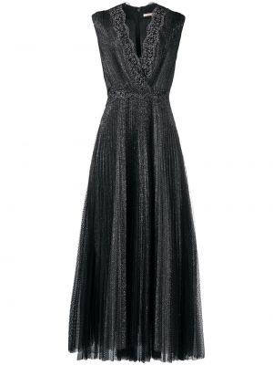 Pofałdowany włókienniczy czarny sukienka bez rękawów Christopher Kane