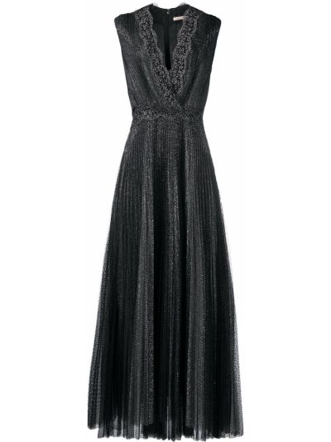 Brokatowa sukienka - czarna Christopher Kane