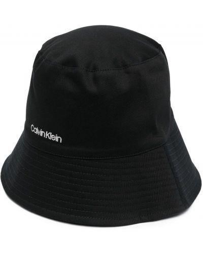 Шапка оверсайз - черная Calvin Klein