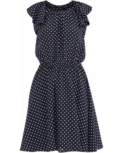 Платье мини в горошек с поясом Tara Jarmon