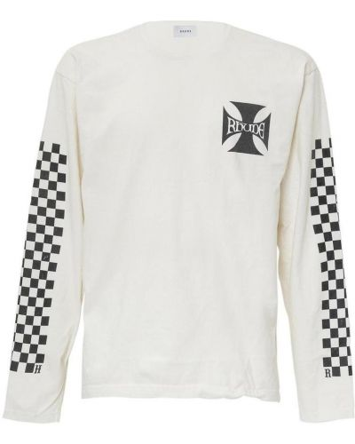 Biały t-shirt z printem Rhude