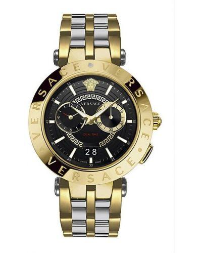 С ремешком серебряные часы водонепроницаемые круглые Versace