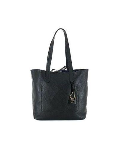 Черная кожаный сумка Patrizia Pepe