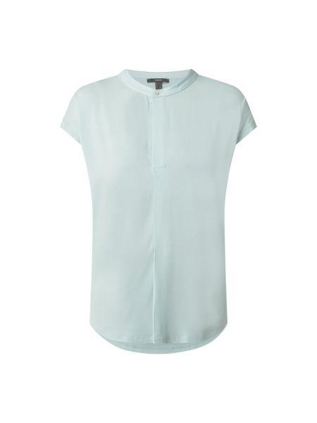 Bluzka z wiskozy turkusowa Esprit Collection