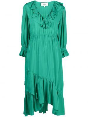 Платье миди с длинными рукавами - зеленое Ba&sh