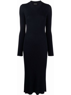 Трикотажное платье миди - синее Roberto Collina