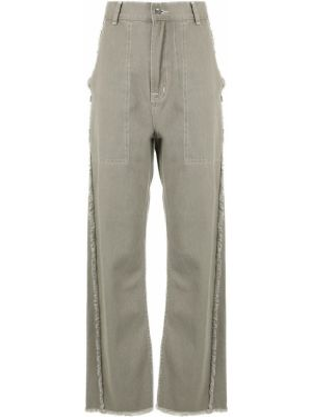 Зеленые прямые джинсы с карманами с бахромой на пуговицах G.v.g.v.