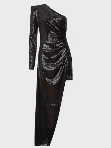 Платье на молнии - черное David Koma