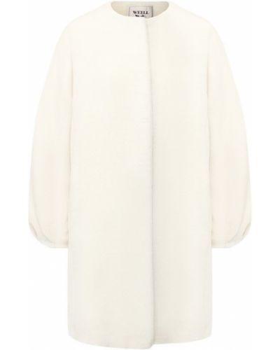 Пальто из альпаки шерстяное Weill