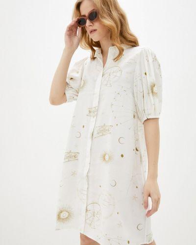 Белое платье рубашка Ichi