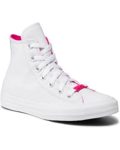Trampki skorzane - białe Converse