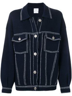 Классическая синяя джинсовая куртка с манжетами с воротником Barrie