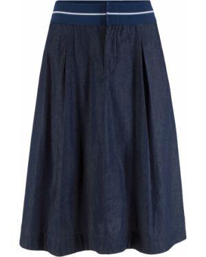 Джинсовая юбка макси с поясом Bonprix
