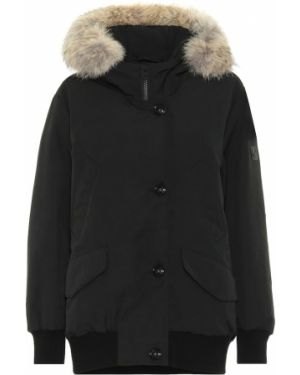 Черная куртка из енота Woolrich