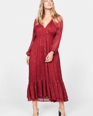 Повседневное платье осеннее фиолетовый Violeta By Mango