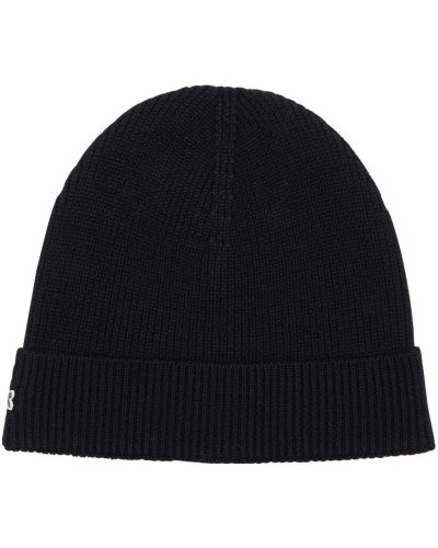Шерстяная шапка - черная Lacoste