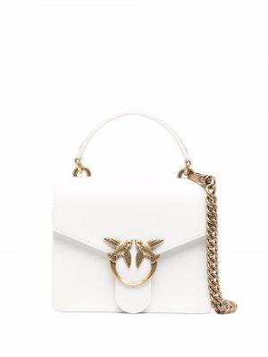 Кожаная сумка - белая Pinko