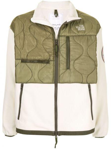 Zielona długa kurtka pikowana z długimi rękawami Readymade