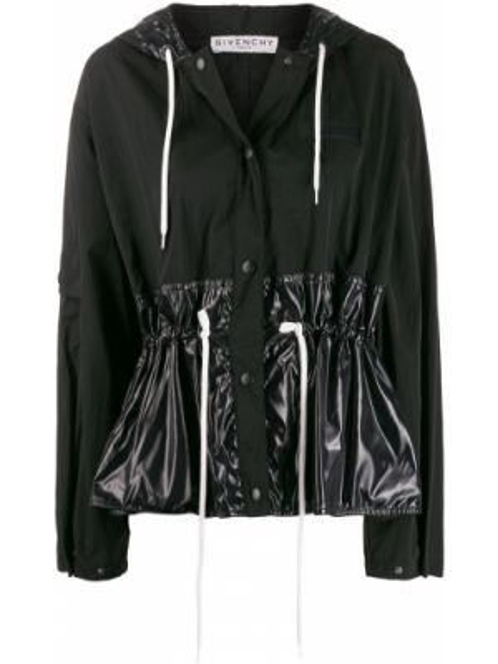 Куртка с капюшоном черная на пуговицах Givenchy