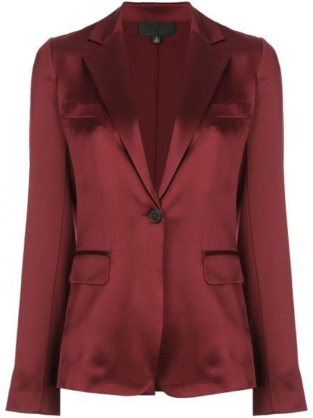 Шелковый красный пиджак с карманами Nili Lotan
