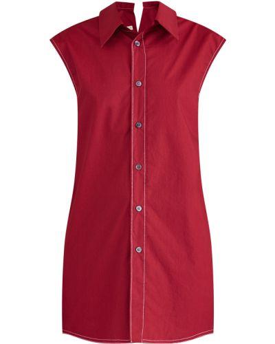 Блузка без рукавов асимметричная на пуговицах Marni