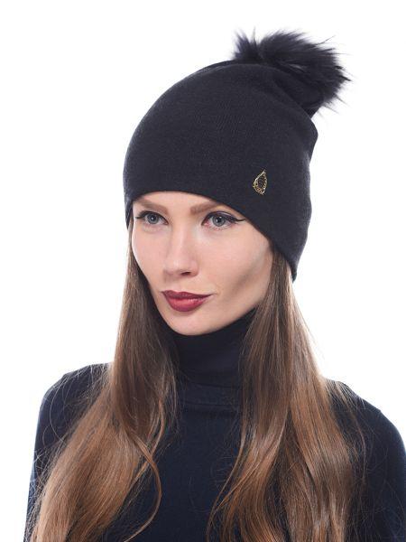 Кашемировая шапка - черная Marina Yachting